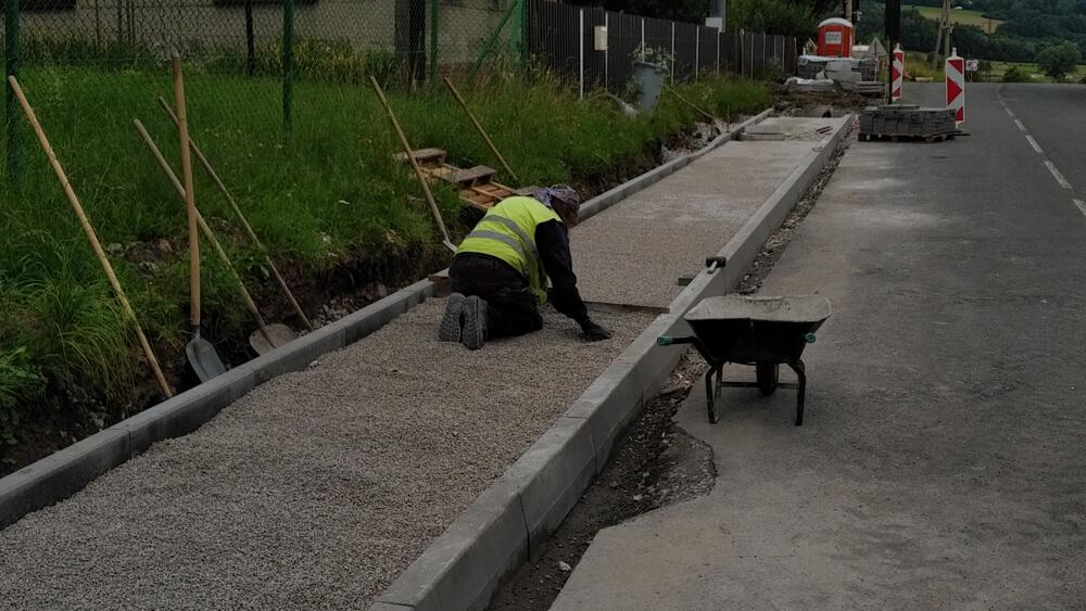 Realizace stavby Metylovice – chodník, úsek 3
