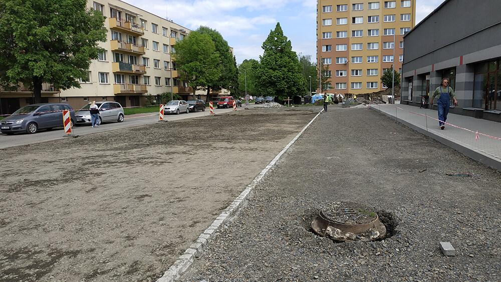 Parkoviště na ul. Mírová a parkoviště u SPORTCENTRA na ul. Nerudova, Bohumín