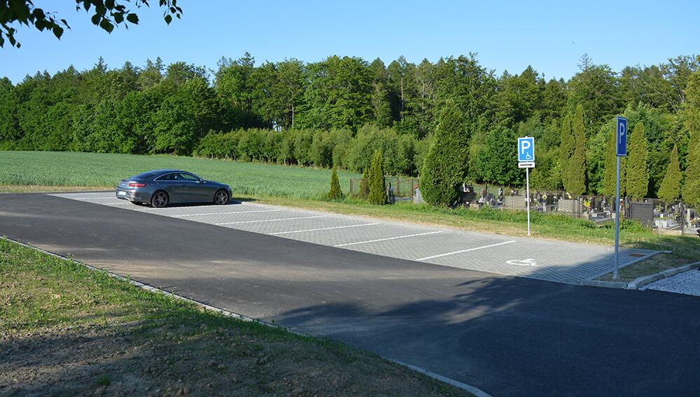 Rozšíření parkovacích ploch hřbitova v Jakubčovicích